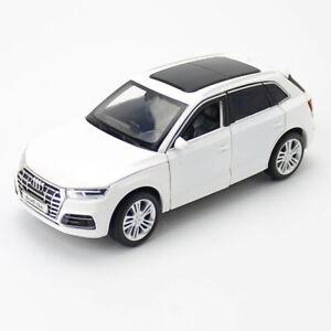 1-32-Audi-Q5-SUV-Die-Cast-Modellauto-Spielzeug-Model-Sammlung-Weiss-Sound-Licht