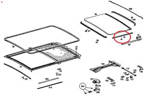 Mercedes W123 Verschluss Handschuhkasten Neu 1236900070