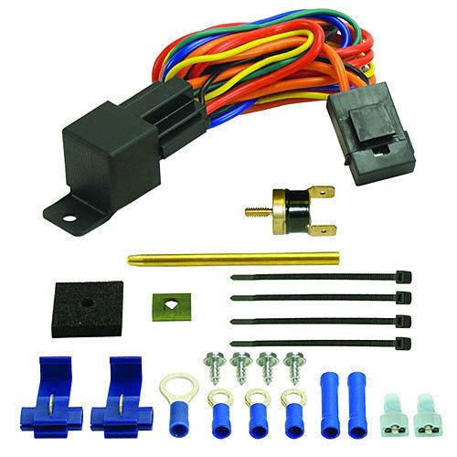 Derale Premium Single Stage Fan Controller Thermostat /& Push-In Radiator Probe