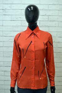 Camicia-Maglia-Blusa-Donna-PANCALDI-Taglia-M-Shirt-Woman-Manica-Lunga-Nylon
