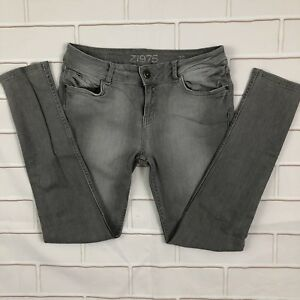 b156749092 Details about Zara Womens Jeans Size 6 Low Rise Skinny Denim Light Gray  Wash Skinny