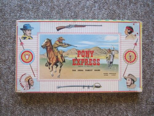 1947 Pony Express Board Game. COMPLETE. RARER VERSION