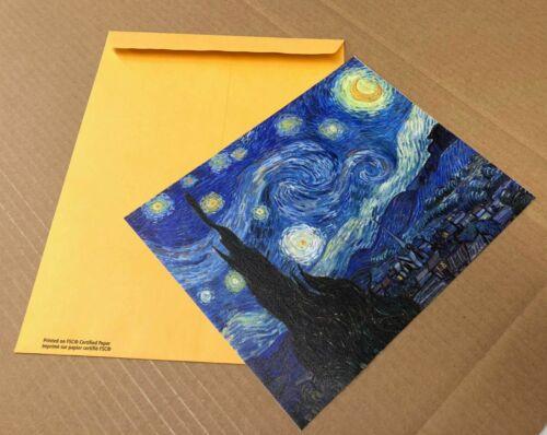 Starry Night Van Gogh Art Print Canvas Small Wall Decor Painting Print 8x10