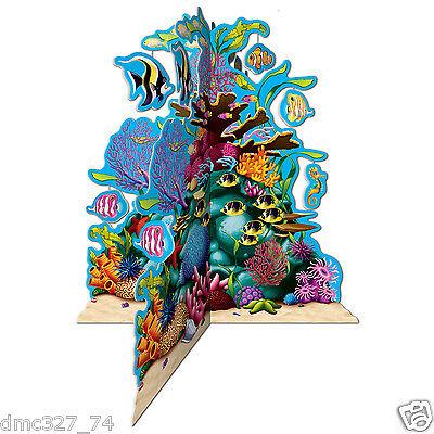 "Under The Sea Ocean Luau Party Decoration Nemo CORAL REEF 3-D CENTERPIECE 10"""