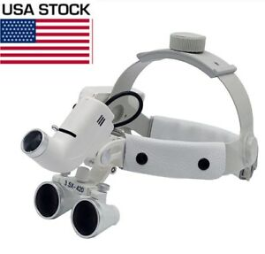 3-5X-Dental-Surgical-Medical-Headband-Loupes-with-5W-LED-Light-DY-106-US-STOCK