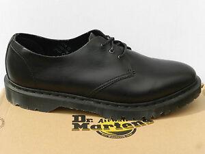 Dr Martens 1461 Hern Chaussures Femme Homme 38 Brando Raw Noir ... 60d73e903d81