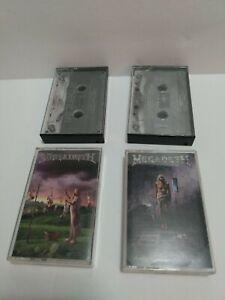 Vintage Megadeth, Iron Maiden, Slayer Cassette Tape lot of 4
