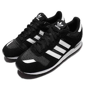 adidas originals zx 700 black white mens casual shoes