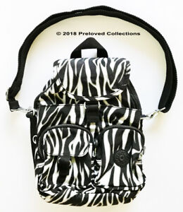 24137e38a0 Image is loading Kipling-Firefly-N-Small-Convertible-Backpack-Black-White-