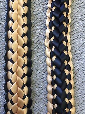 Customized Choose Your Colors Satin Double Ribbon Graduation Lei