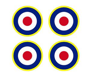 Set-of-4-Remote-Control-RC10-RAF-Roundels-4-034-RC-Airplane-Sticker