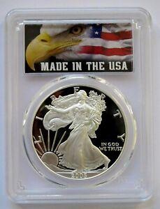 2005-W PCGS PR 69 Deep Cameo Proof Silver American Eagle Dollar!!