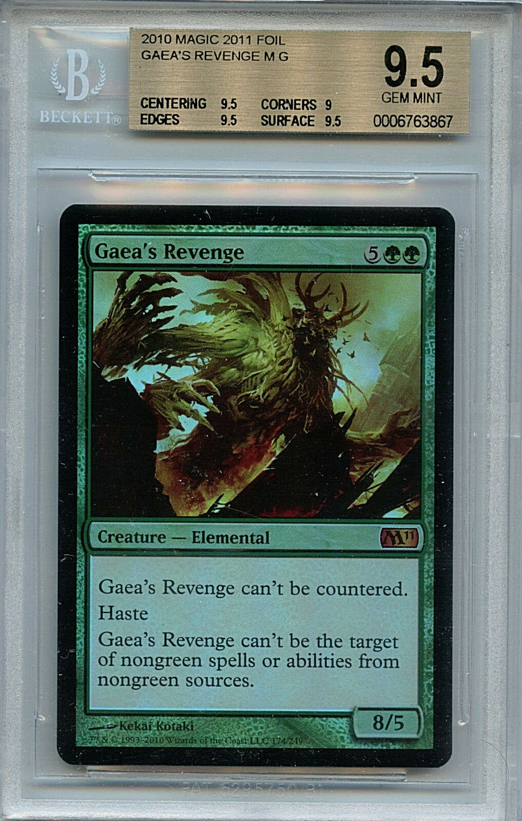 MTG Gaea's Revenge BGS 9.5 Gem Mint 2010 Magic 2011 Magic Foil card Amricons