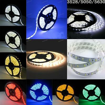 5m 10m 3528 5050 5630 150/300/600 LED R/G/B white rgb flexible strip light DC12V