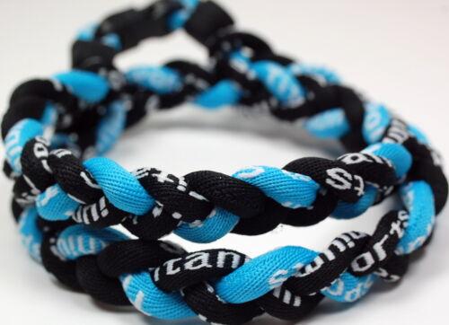 "Wholesale Lot of 10  20/"" Light Blue Black Baseball Titanium Necklace Tornado"