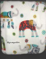 Elephant Plush Throw Blanket - Polyester 60x70 Storehouse - White -