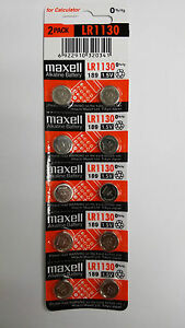 10 NEW Maxell LR1130 189 389 LR54 SR1130SW AG10 Alkaline Battery Exp 12-2019