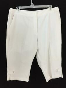 EP-PRO-capris-pants-size-18-white-17-034-inseam-3-pockets-womens-golf