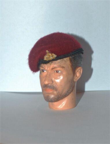 1//6 British Reconnaissance Airborne Division maroon beret /& Recce metal badge