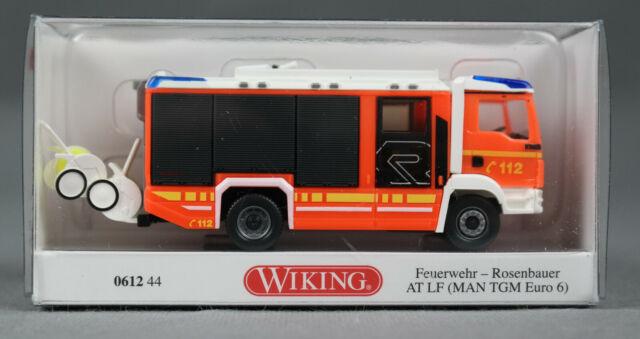 Wiking 1:87-061244 Feuerwehr-Rosenbauer-AT LF-MAN TGM-OVP