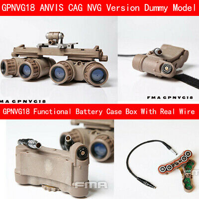 BNVS CAG Version Dummy Model FMA GPNVG18 ANVIS Battery case with Real Wire
