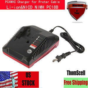 PCXMVC-18-Volt-Lithium-Ion-amp-NiCd-NiMh-Battery-Charger-for-Porter-Cable-PC18B