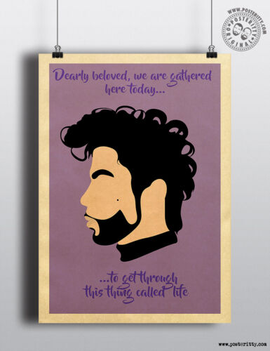 PRINCE Quote /'Dearly Beloved/' Minimalist Movie Poster Posteritty Minimal Print
