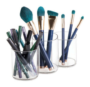beauty supply storage makeup brush holder trio cup vanity