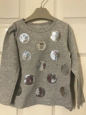 Other Girls Grey Sequin Top Age 2 Years By Carter's