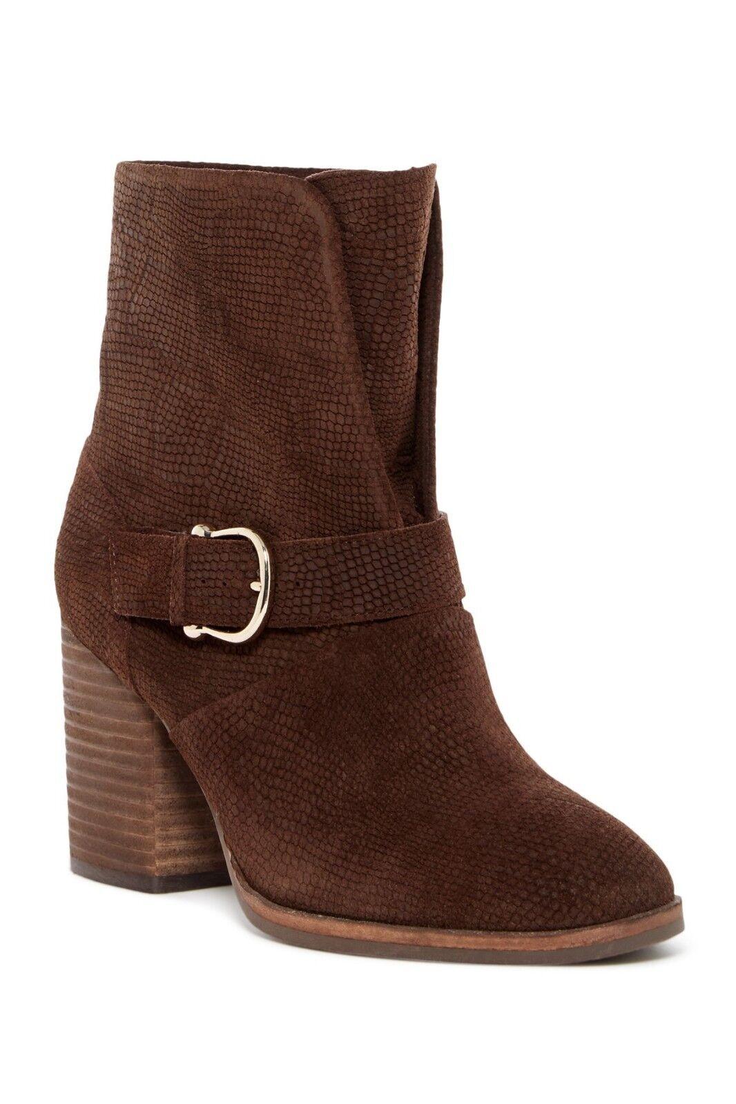 New  Isola Lavoy Block Heel Boot  Coffe  Suede  Damens's boots Größe 9