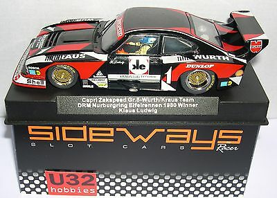 Kinderrennbahnen Methodical Racer Sideways Sw48 Ford Capri Gr.5 Zakspeed #1 Drm Nürburgring 1980 K.ludwig Mb 100% Original