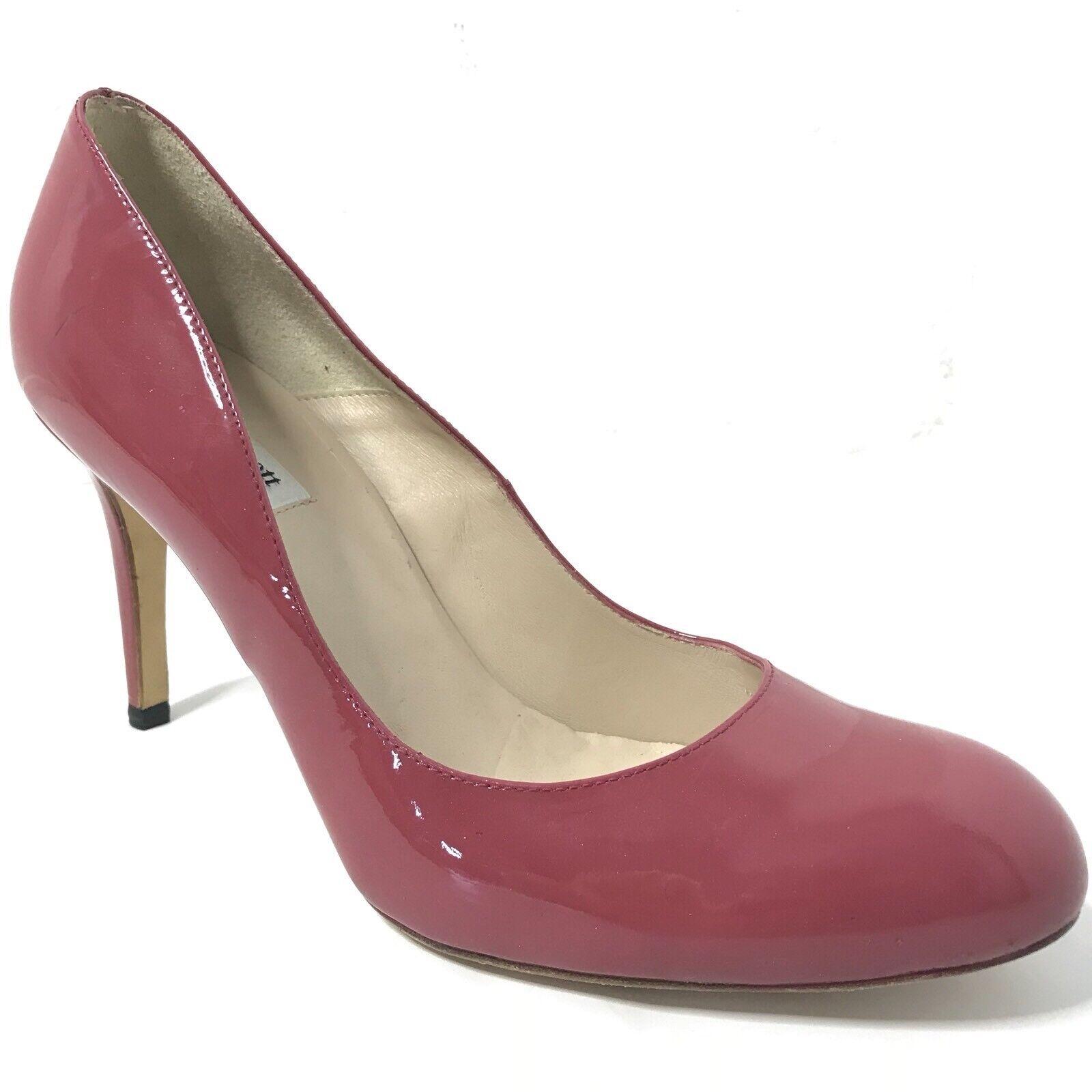 LK Bennett Heels Pumps Patent Leather Red Pink Women's 41  10 10.5 11
