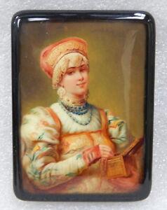 Russian-miniature-portrait-painting-lacquer-cigarette-box-case-Kholui