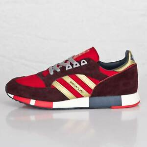 ADIDAS-Boston-Super-Power-Rosso-Oro-metallizzato-Notte-Rosso-Men-039-S-TRAINER-tutte-le-dimensioni
