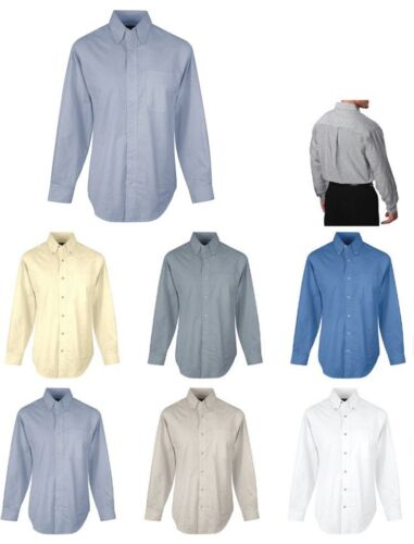MENS CLASSIC EASY CARE COTTON BLEND OXFORD SHIRT POCKET XS-6XL STAIN RESISTANT