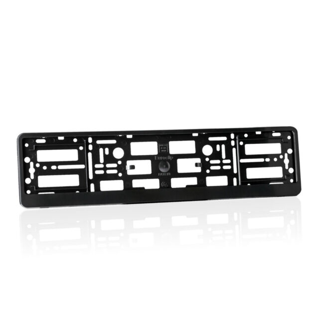 2x Black Euroclip Number Plate Surrounds Holders Frame for All Cars ...