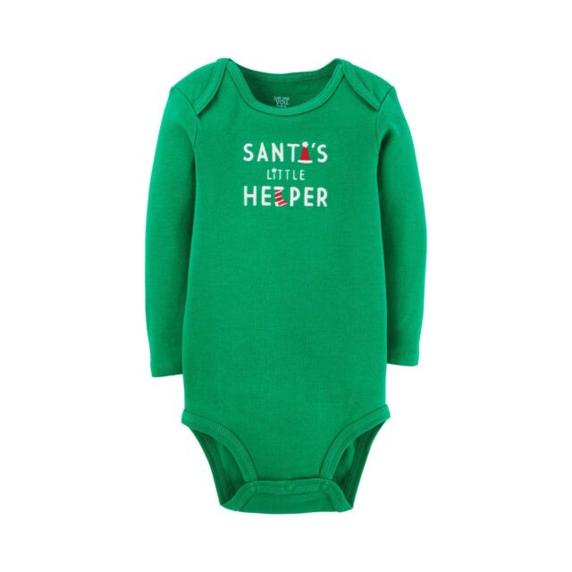 be825fd31d50 Santa s Little Helper Long Sleeve Body Suit Size 3 Month Carters ...