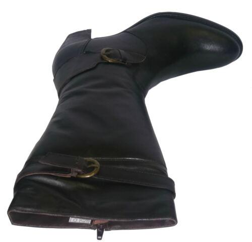Donna Damen Stiefel 2080 Al Tacchi Ginocchio Da Pelle Marrone Stivali Con Zip qFqxgpR