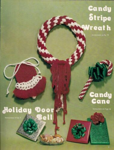 Candy Stripe Wreath Holiday Door Bell Pattern #GM16 Deck the Halls with Macrame