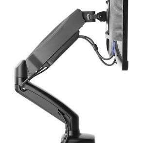 Single-LCD-Monitor-Gas-Counterbalance-Arm-Desk-Mount-13-27-034-Tilt-Swivel-w-USB