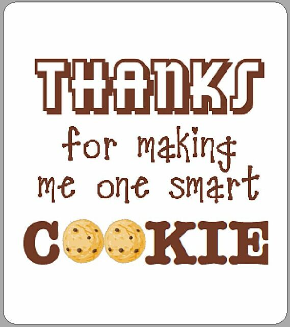 photograph about One Smart Cookie Printable named 12 X Just one Intelligent Cookie Labels Thank Yourself Trainer College or university Present Novelty