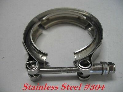 """New 3.5"""" Inch Turbo Exhaust Down Pipe Stainless #304 V-Band V band Vband Clamp"""