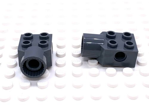 Lego Part 4225973 Technic Brick 2x2 Female Dark Bluish Grey X 2 Parts 48169