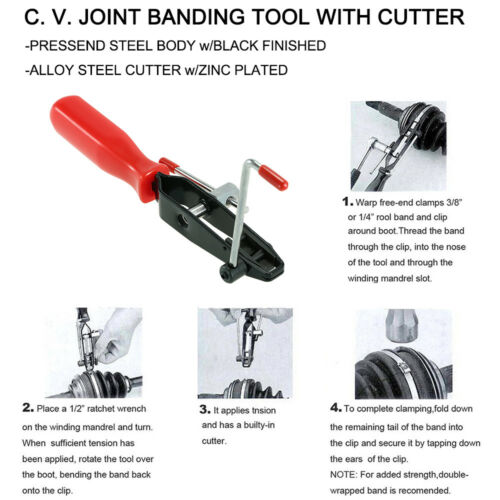 CV Clamp Tool CV Joint Boot Clamp Pliers Professional Set Clip Hose Y0D1