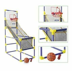 Kids Arcade Basketball Stand Rack With Pump Ball 142 cm Indoor Basketball