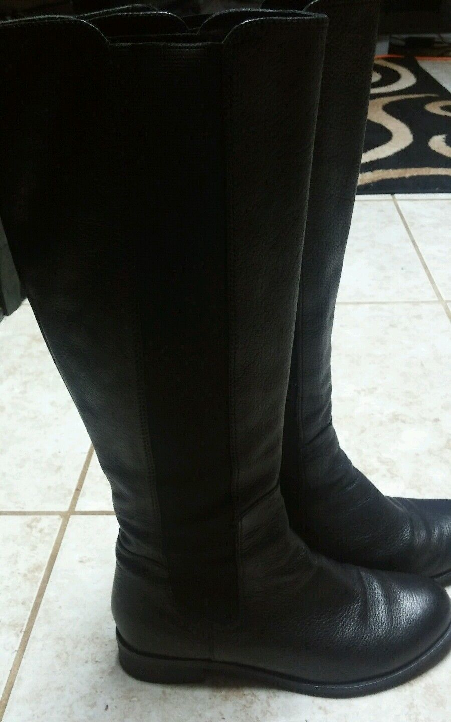 COLE HAAN Nike Air  Black the Knee high  Black  Leather Boots size 7.5 B 5cdf0f