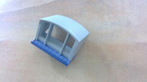 PLAYMOBIL Ersatzteile großes Krankenhaus 4404 Dach Fenster blau grau