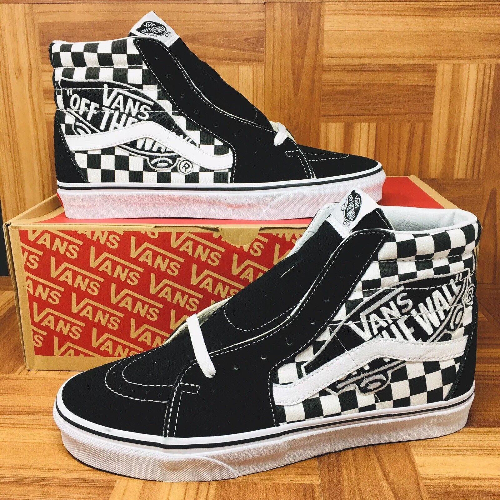 NEW Vans Authentic Old Skool Hi-Sk8 (Men Size 13) Checkered Van Patch shoes