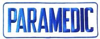 Paramedic White Royal 4 X 11 Jacket Back Emblem Patch Sew On Embroidered