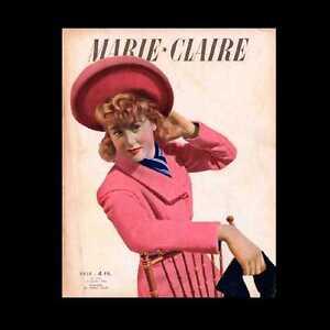 Dollshouse Miniature Journal - 1943 Marie Claire, Magazine De Mode Français-afficher Le Titre D'origine